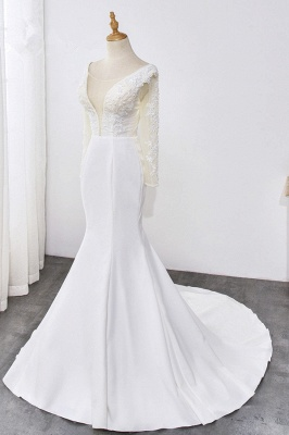 Designer Hochzeitskleider mit Ärmel | Brautkleid Meerjungfrau Spitze_3