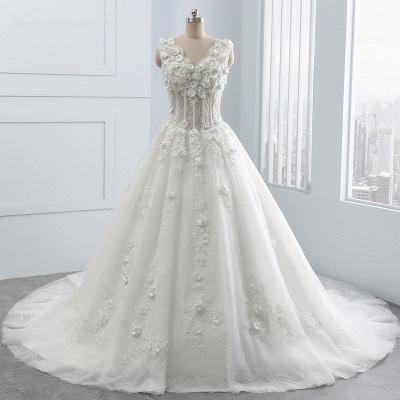 Brautkleider A Linie Spitze | Tüll Hochzeitskleider Online_8