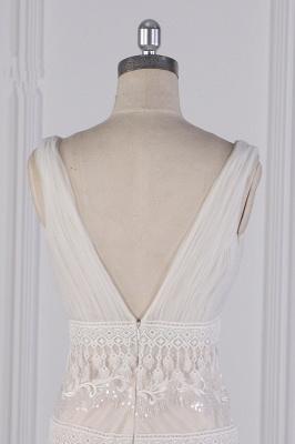 Romantische Hochzeitskleider V Ausschnitt | Brautkleid Spitze_5