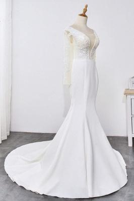 Designer Hochzeitskleider mit Ärmel | Brautkleid Meerjungfrau Spitze_4