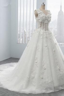 Brautkleider A Linie Spitze | Tüll Hochzeitskleider Online_3