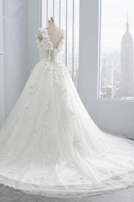 Brautkleider A Linie Spitze | Tüll Hochzeitskleider Online_4