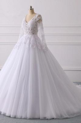Wunderschöne Hochzeitskleid Langarm | A Linie Brautkleider Spitze_3
