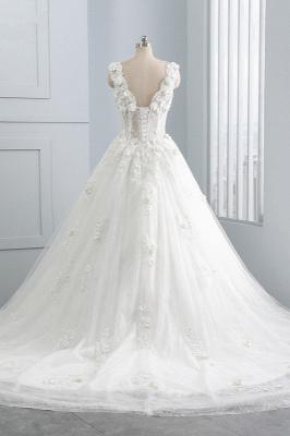 Brautkleider A Linie Spitze | Tüll Hochzeitskleider Online_2
