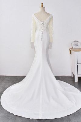 Designer Hochzeitskleider mit Ärmel | Brautkleid Meerjungfrau Spitze_2