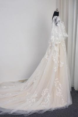Brautkleider A Linie Spitze | Hochzeitskleid mit Schleppe_4