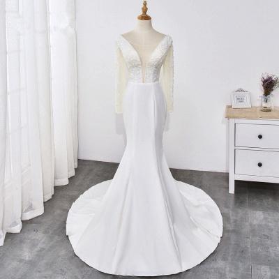 Designer Hochzeitskleider mit Ärmel | Brautkleid Meerjungfrau Spitze_7