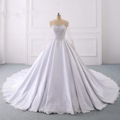 Ausgefallene Hochzeitskleider Lange Ärmel | Brautkleid A Linie_7