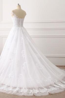 Brautkleid A linie | Spitze Hochzeitskleider Online Kaufen_4