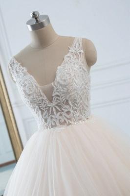 Schöne Brautkleider v Ausschnitt | Hochzeitskleid Umstandsmode_4