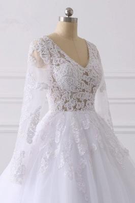 Wunderschöne Hochzeitskleid Langarm | A Linie Brautkleider Spitze_5