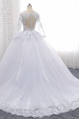 Schlichte Hochzeitskleider Spitze   Brautkleider lange Ärmel_4