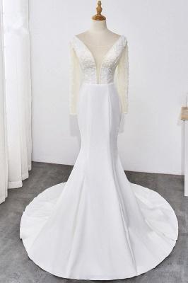 Designer Hochzeitskleider mit Ärmel | Brautkleid Meerjungfrau Spitze_1
