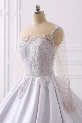 Ausgefallene Hochzeitskleider Lange Ärmel | Brautkleid A Linie_5