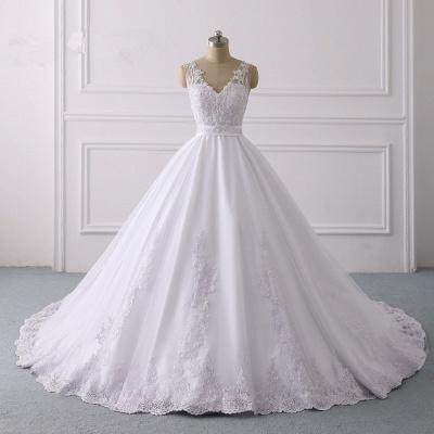 Designer Brautkleider A Linie Spitze | Hochzeitskleider V Ausschnitt_6