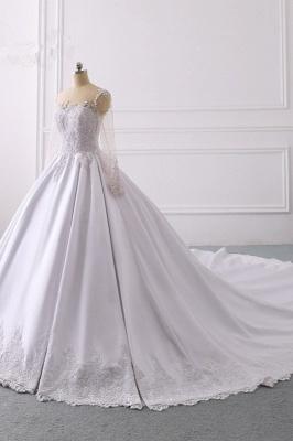 Ausgefallene Hochzeitskleider Lange Ärmel | Brautkleid A Linie_3