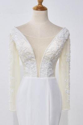 Designer Hochzeitskleider mit Ärmel | Brautkleid Meerjungfrau Spitze_6