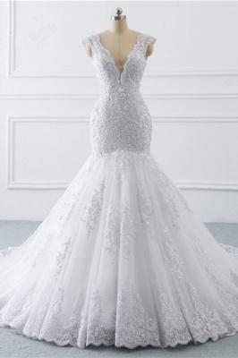 Schlichte hochzeitskleider Meerjungfrau | Brautkleider Spitze