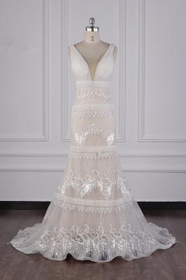 Romantische Hochzeitskleider V Ausschnitt | Brautkleid Spitze_1