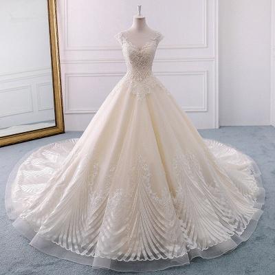 Champagne Brautkleider Prinzessin | Bohemian Hochzeitskleid_5