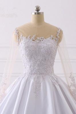 Ausgefallene Hochzeitskleider Lange Ärmel | Brautkleid A Linie_4
