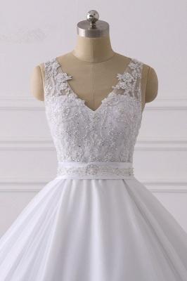 Designer Brautkleider A Linie Spitze | Hochzeitskleider V Ausschnitt_4