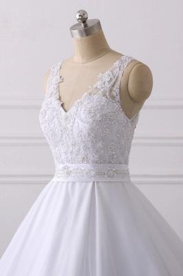 Designer Brautkleider A Linie Spitze | Hochzeitskleider V Ausschnitt_5