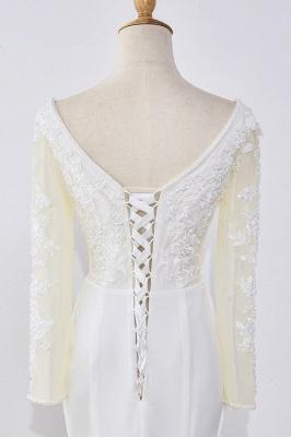 Designer Hochzeitskleider mit Ärmel | Brautkleid Meerjungfrau Spitze_5