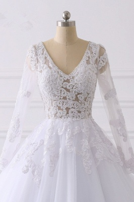 Wunderschöne Hochzeitskleid Langarm | A Linie Brautkleider Spitze_4