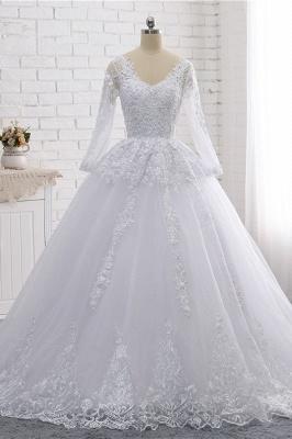 Schlichte Hochzeitskleider Spitze | Brautkleider lange Ärmel