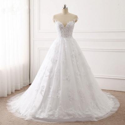 Brautkleid A linie | Spitze Hochzeitskleider Online Kaufen_7