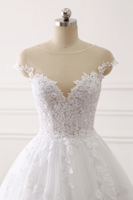 Brautkleid A linie | Spitze Hochzeitskleider Online Kaufen_5