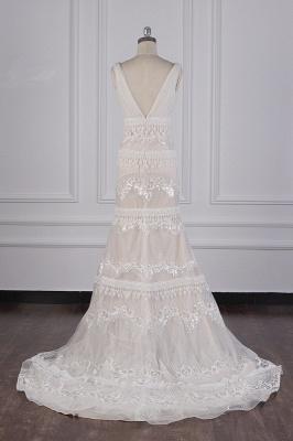 Romantische Hochzeitskleider V Ausschnitt | Brautkleid Spitze_2