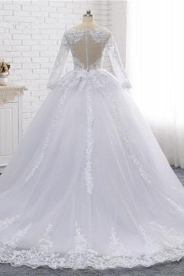 Schlichte Hochzeitskleider Spitze   Brautkleider lange Ärmel_2