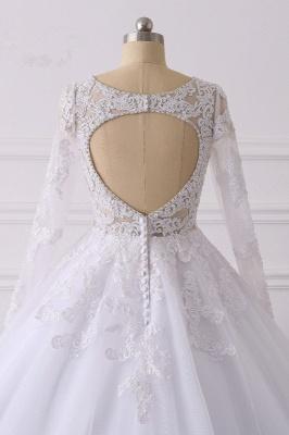 Wunderschöne Hochzeitskleid Langarm | A Linie Brautkleider Spitze_6