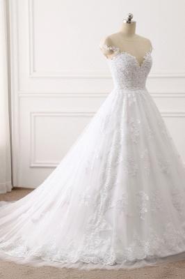 Brautkleid A linie | Spitze Hochzeitskleider Online Kaufen_3