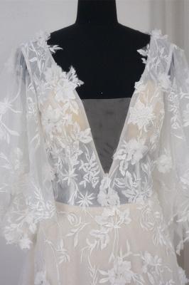 Brautkleider A Linie Spitze | Hochzeitskleid mit Schleppe_5