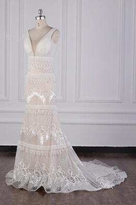 Romantische Hochzeitskleider V Ausschnitt | Brautkleid Spitze_3
