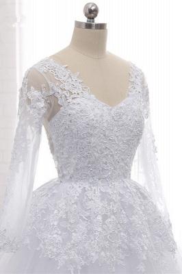 Schlichte Hochzeitskleider Spitze   Brautkleider lange Ärmel_6
