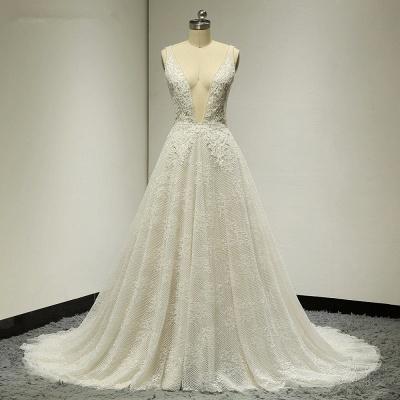 Brautkleider A Linie Spitze   Hochzeitskleid Bestellen_6