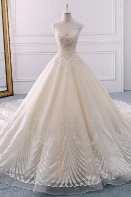 Champagne Brautkleider Prinzessin | Bohemian Hochzeitskleid