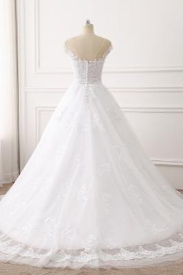 Brautkleid A linie | Spitze Hochzeitskleider Online Kaufen_2