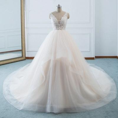 Schöne Brautkleider v Ausschnitt | Hochzeitskleid Umstandsmode_6