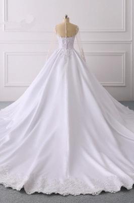 Ausgefallene Hochzeitskleider Lange Ärmel | Brautkleid A Linie_2
