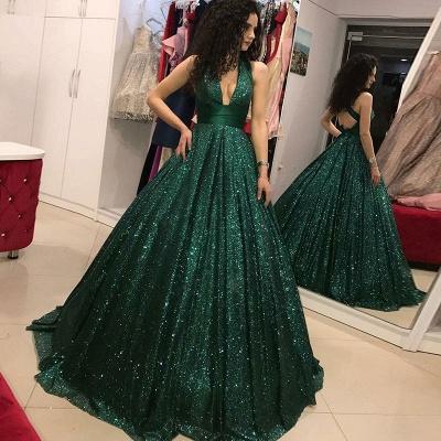 Rote Lange Abendkleider mit Glitzer   Ballkleider Online Kaufen_3