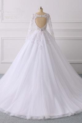 Wunderschöne Hochzeitskleid Langarm | A Linie Brautkleider Spitze_2