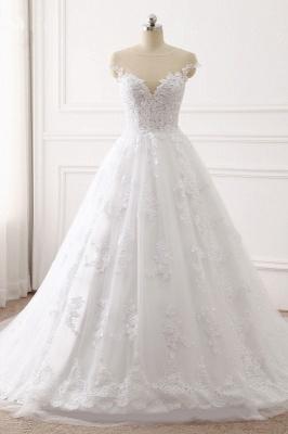 Brautkleid A linie | Spitze Hochzeitskleider Online Kaufen