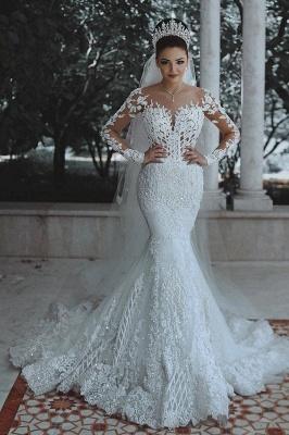 Luxus Brautkleider Mit Ärmel | Hochzeitskleider Meerjungfrau Spitze