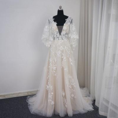 Brautkleider A Linie Spitze | Hochzeitskleid mit Schleppe_6