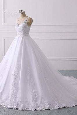 Designer Brautkleider A Linie Spitze | Hochzeitskleider V Ausschnitt_3